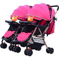 Popular Multi-function Foldable Shanghai Baby Carriage Trolley Twin Stroller Tandem Stroller (SF-S6603)