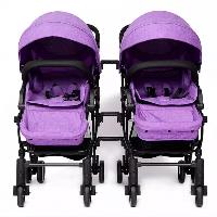 Fabricantes que fornecem Gêmeos destacáveis dobráveis dobro do carrinho de bebê do carrinho de bebê de linho luxuoso (gêmeos SF-S8007)