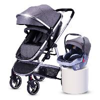 EN1888 Certificate Multi-color Optional Linen Canopy Fabric Aluminum Alloy Baby Stroller with Car Seat (SF-S0808B Pro)