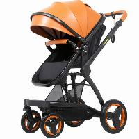Multi-color Optional PU Leather Canopy Fabric Aluminum Alloy Baby Stroller 3 in 1 with EN1888 (SF-S00X6)